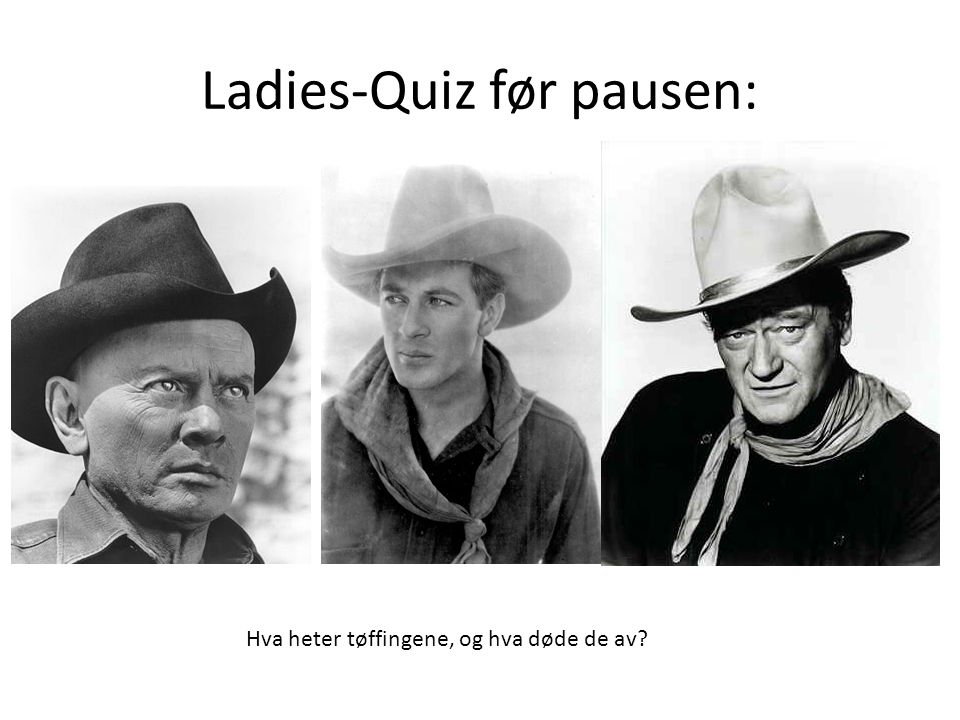 Ladies-Quiz før pausen: