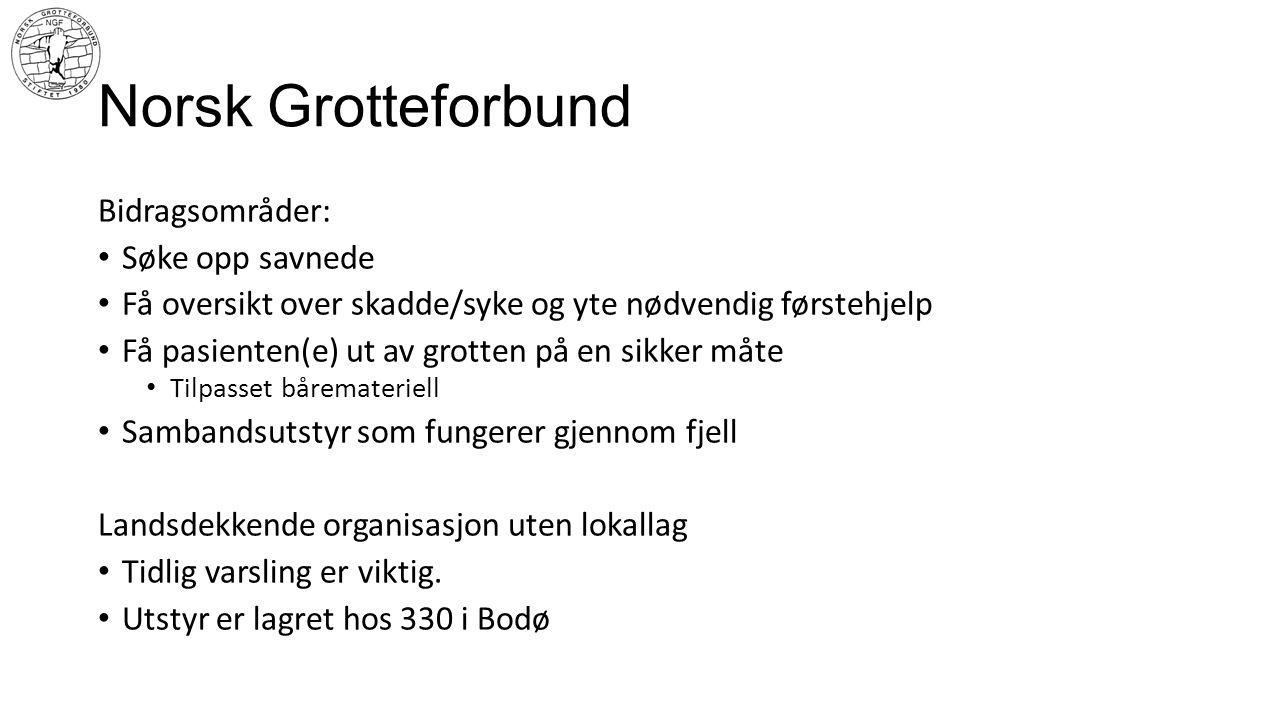 Norsk Grotteforbund Bidragsområder: Søke opp savnede