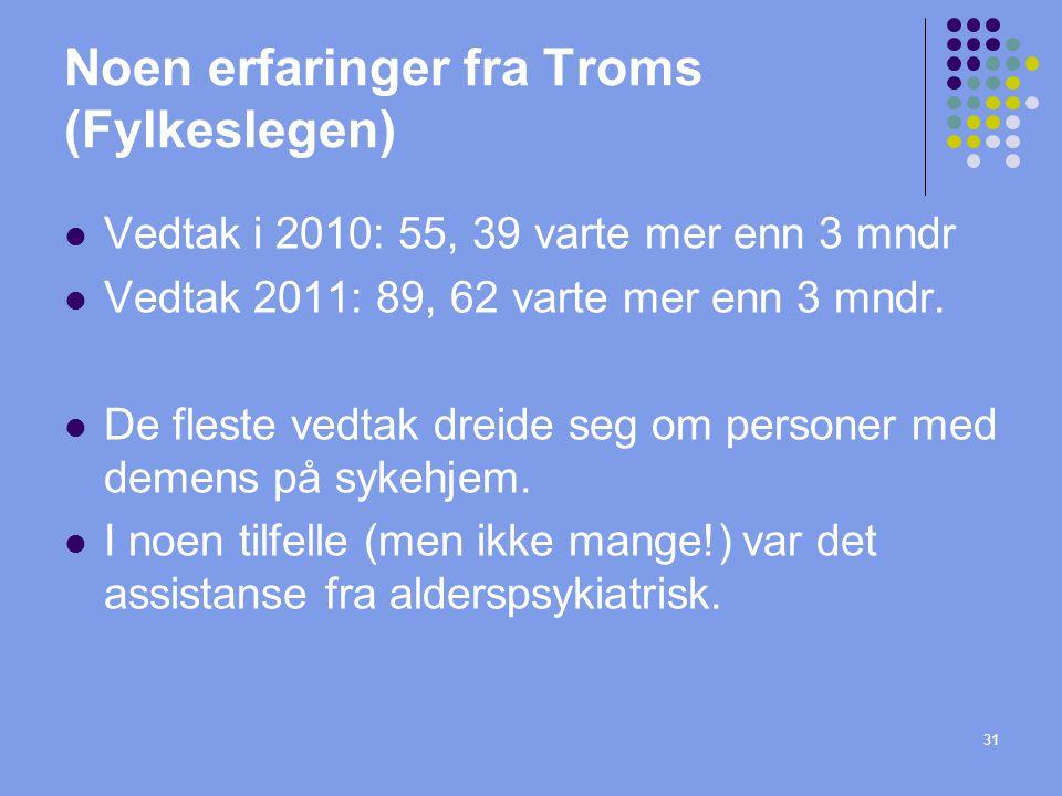 Noen erfaringer fra Troms (Fylkeslegen)