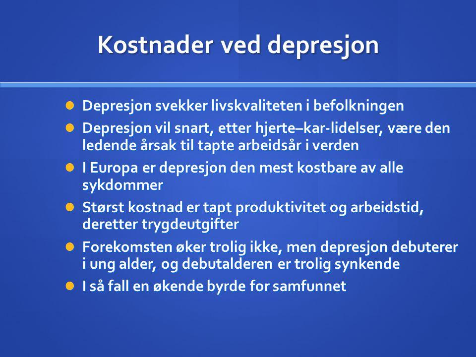 Kostnader ved depresjon