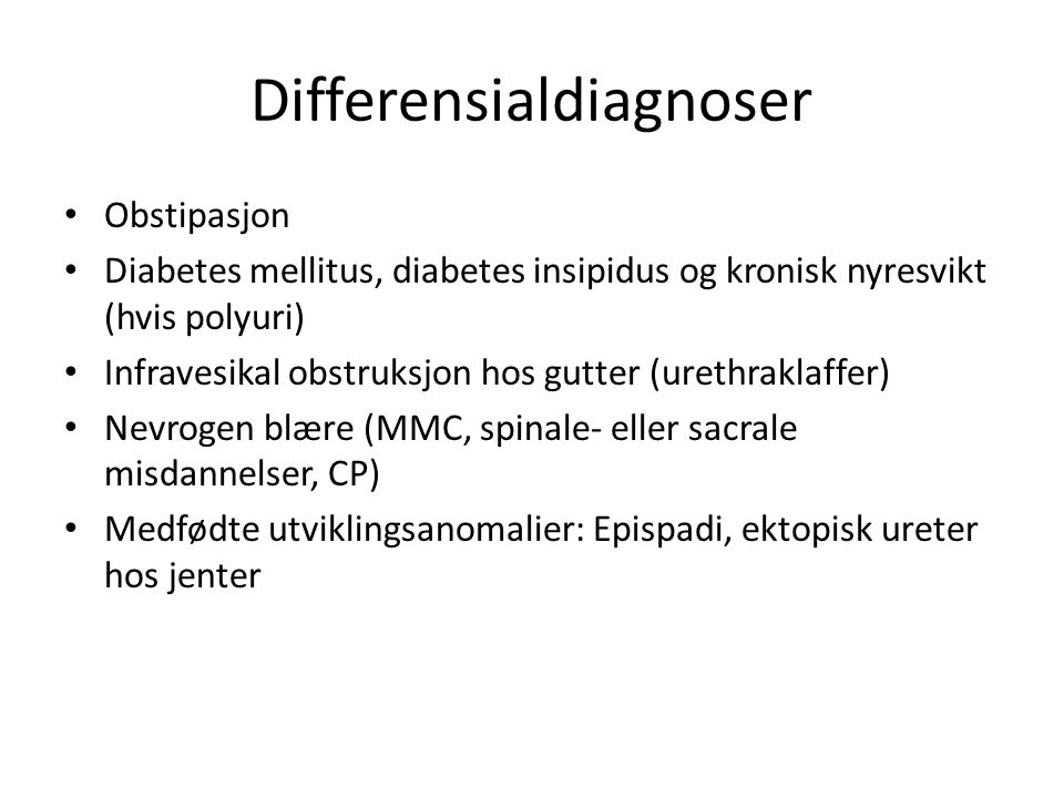 Differensialdiagnoser