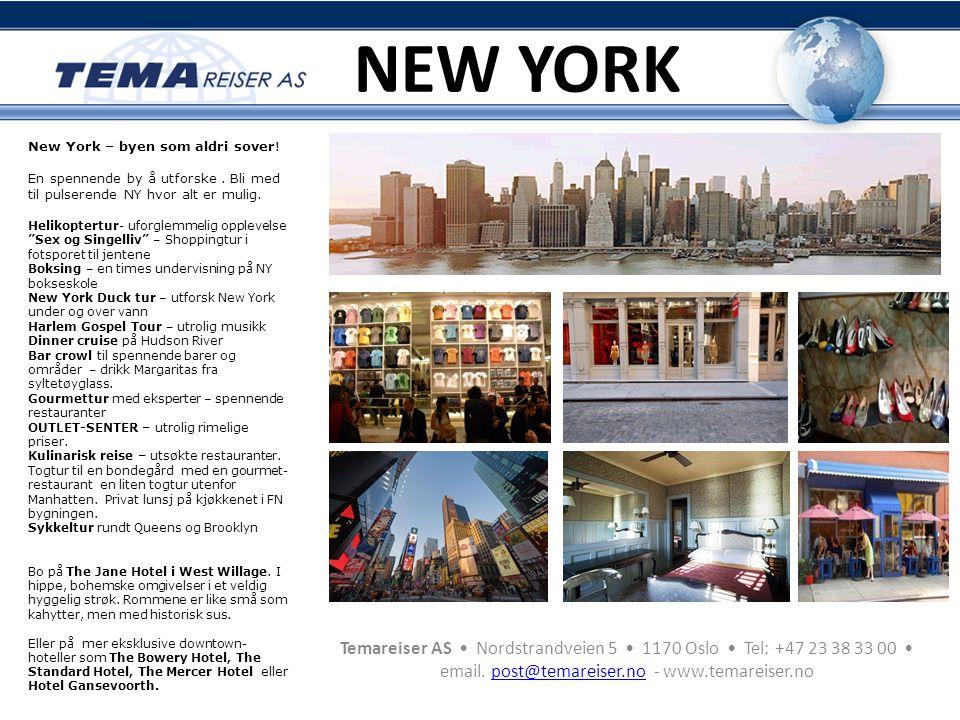 NEW YORK New York – byen som aldri sover! En spennende by å utforske . Bli med til pulserende NY hvor alt er mulig.