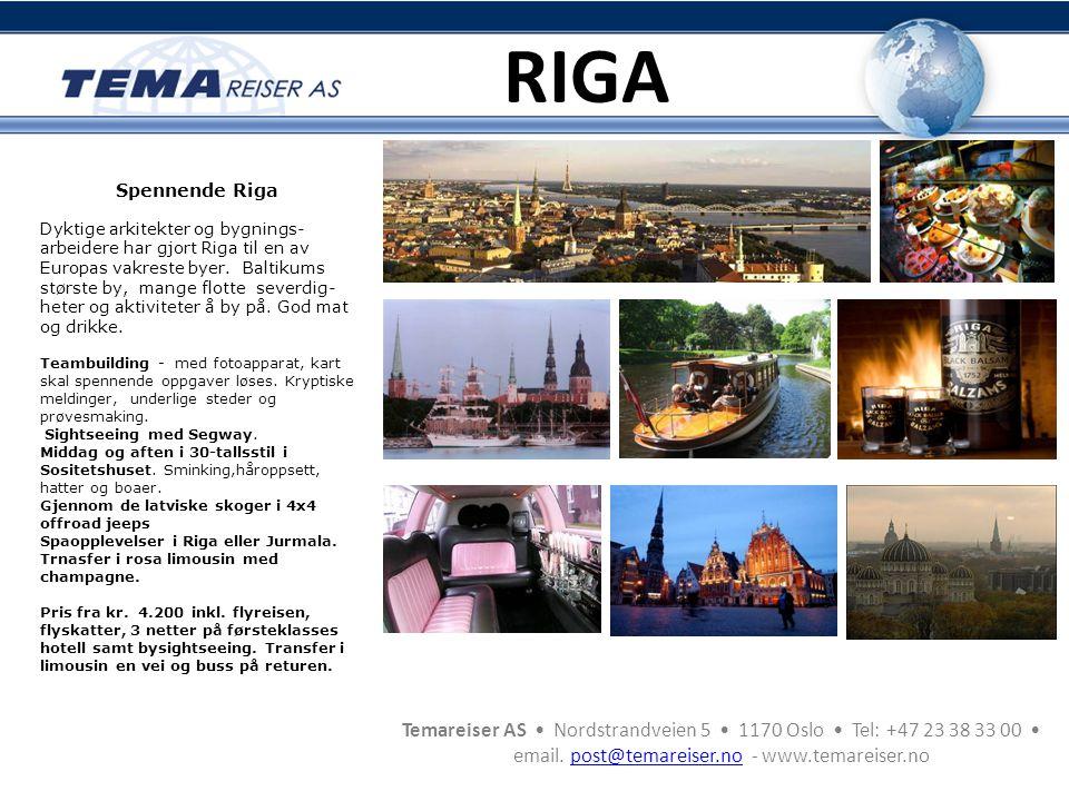 RIGA Spennende Riga.