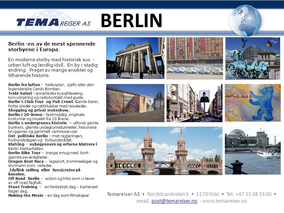 BERLIN Berlin -en av de mest spennende storbyene i Europa.