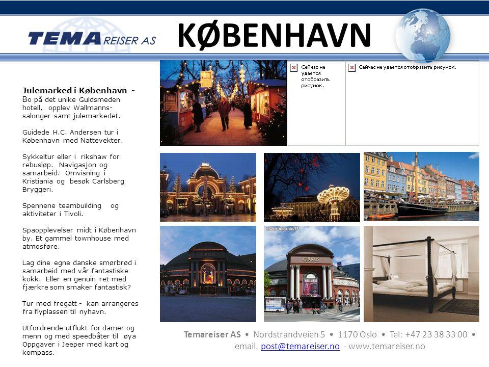 KØBENHAVN Julemarked i København - Bo på det unike Guldsmeden hotell, opplev Wallmanns-salonger samt julemarkedet.