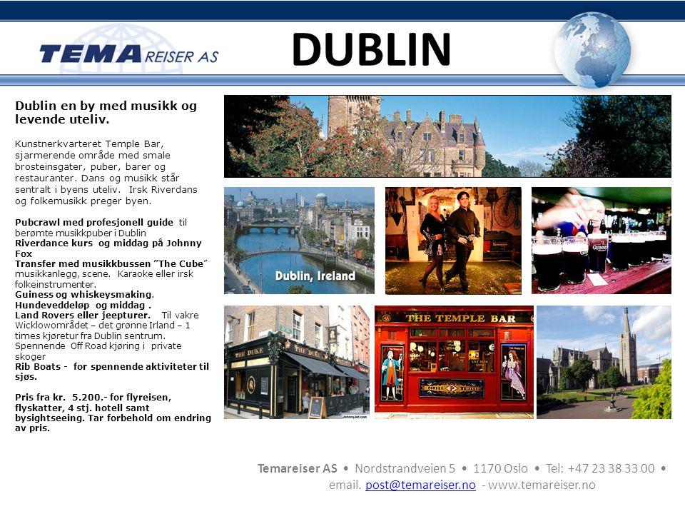 DUBLIN Dublin en by med musikk og levende uteliv.