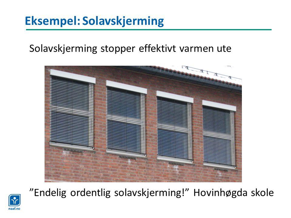 Eksempel: Solavskjerming