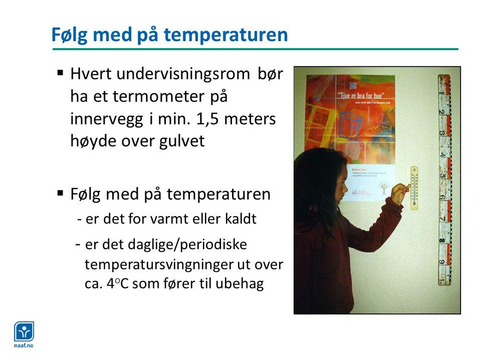Følg med på temperaturen