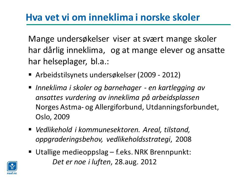 Hva vet vi om inneklima i norske skoler