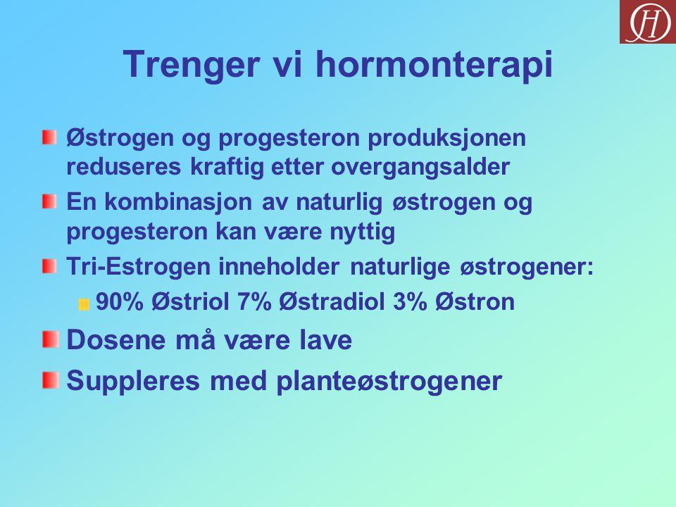 Trenger vi hormonterapi