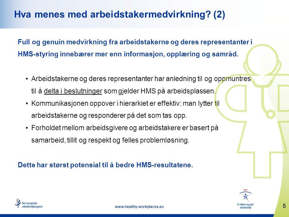 Hva menes med arbeidstakermedvirkning (2)