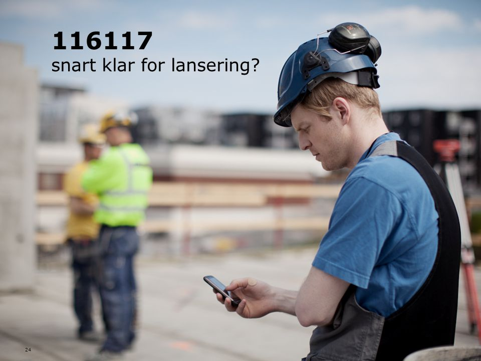 116117 snart klar for lansering