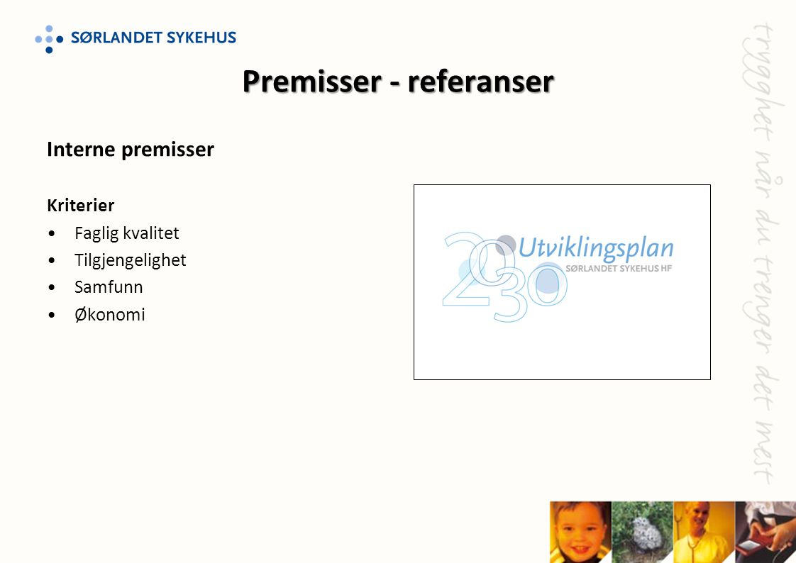 Premisser - referanser