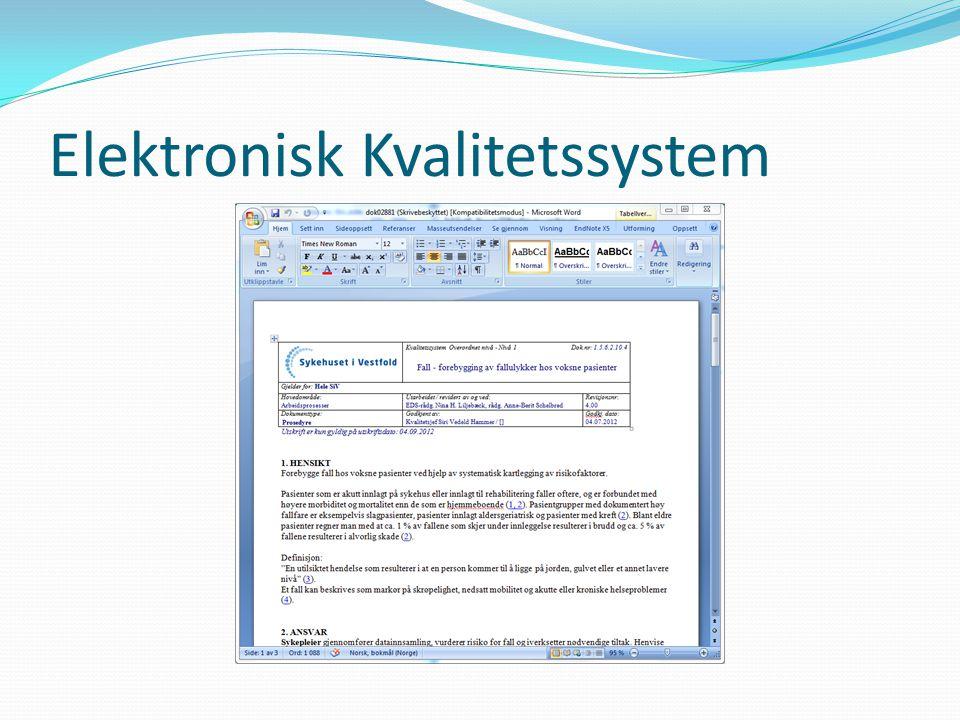 Elektronisk Kvalitetssystem