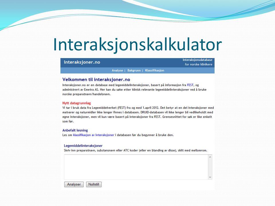 Interaksjonskalkulator