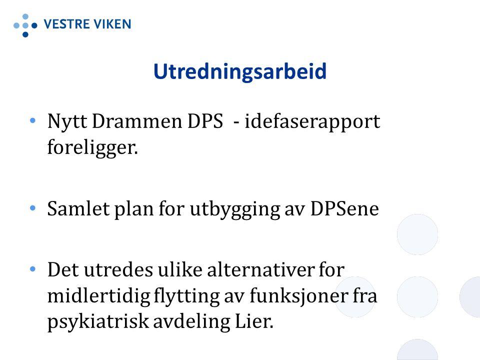 Utredningsarbeid Nytt Drammen DPS - idefaserapport foreligger.