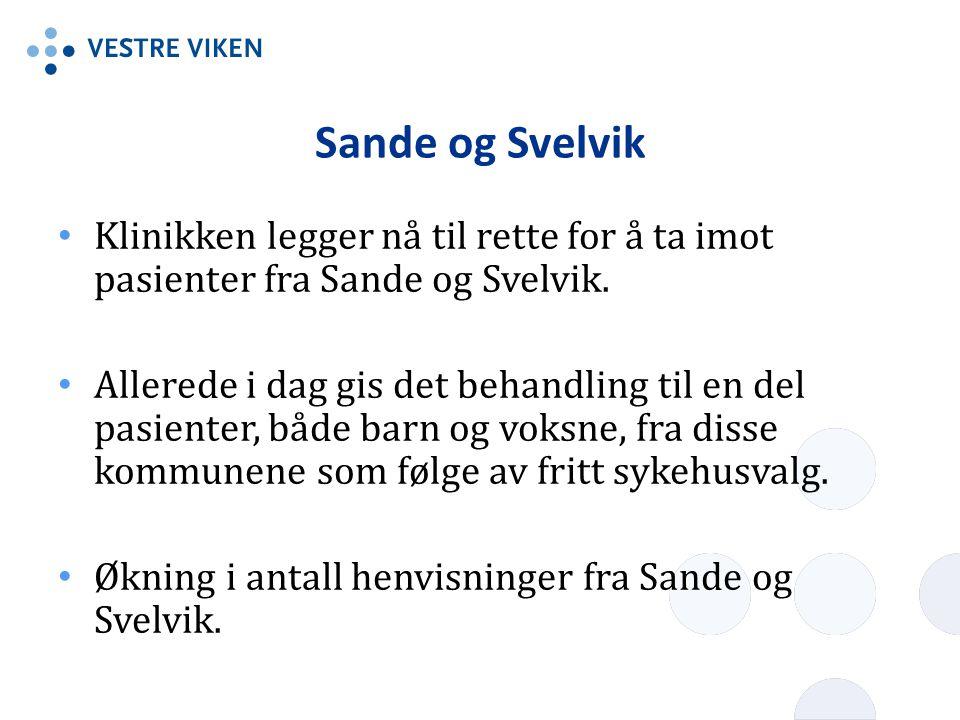 Sande og Svelvik Klinikken legger nå til rette for å ta imot pasienter fra Sande og Svelvik.