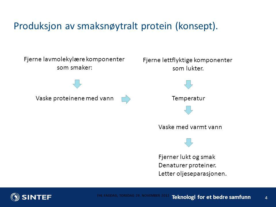 Produksjon av smaksnøytralt protein (konsept).