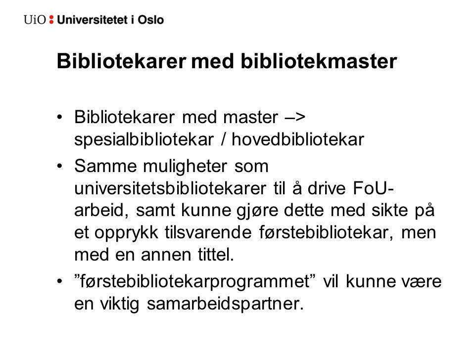 Bibliotekarer med bibliotekmaster