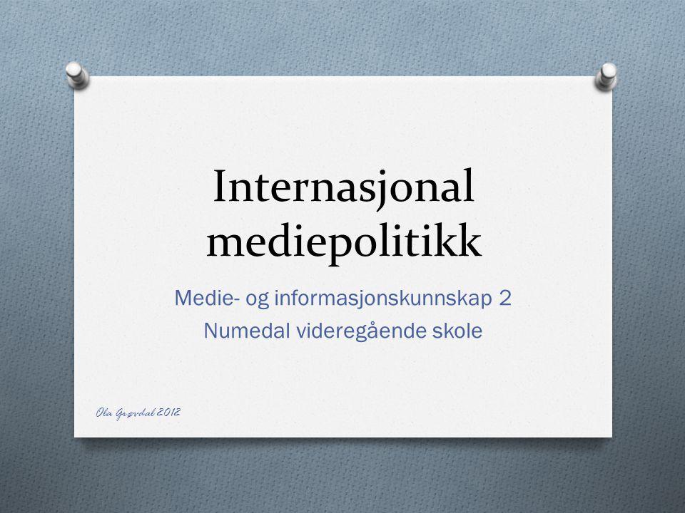 Internasjonal mediepolitikk