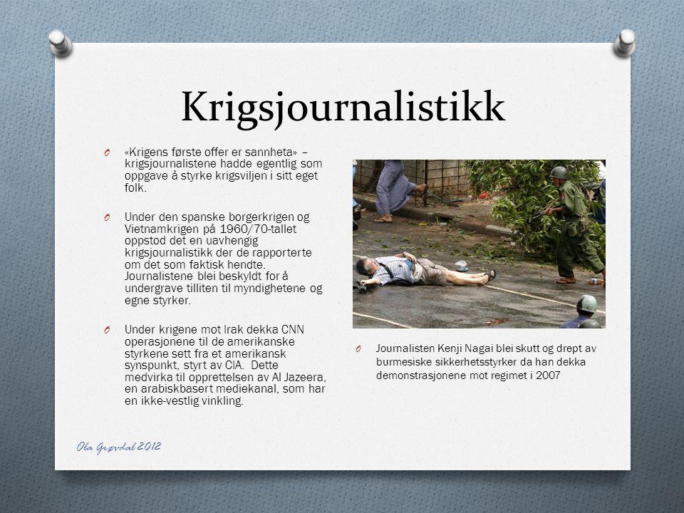 Krigsjournalistikk Ola Grøvdal 2012