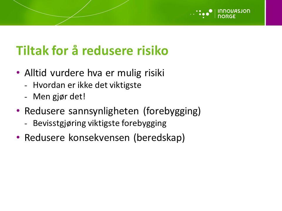 Tiltak for å redusere risiko