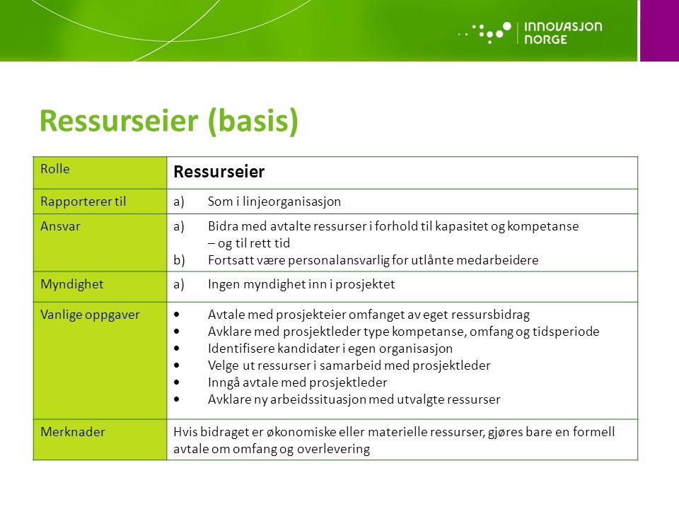 Ressurseier (basis) Ressurseier Rolle Rapporterer til