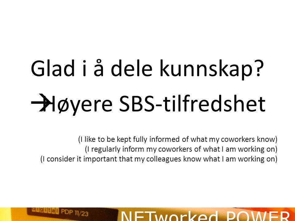 Høyere SBS-tilfredshet