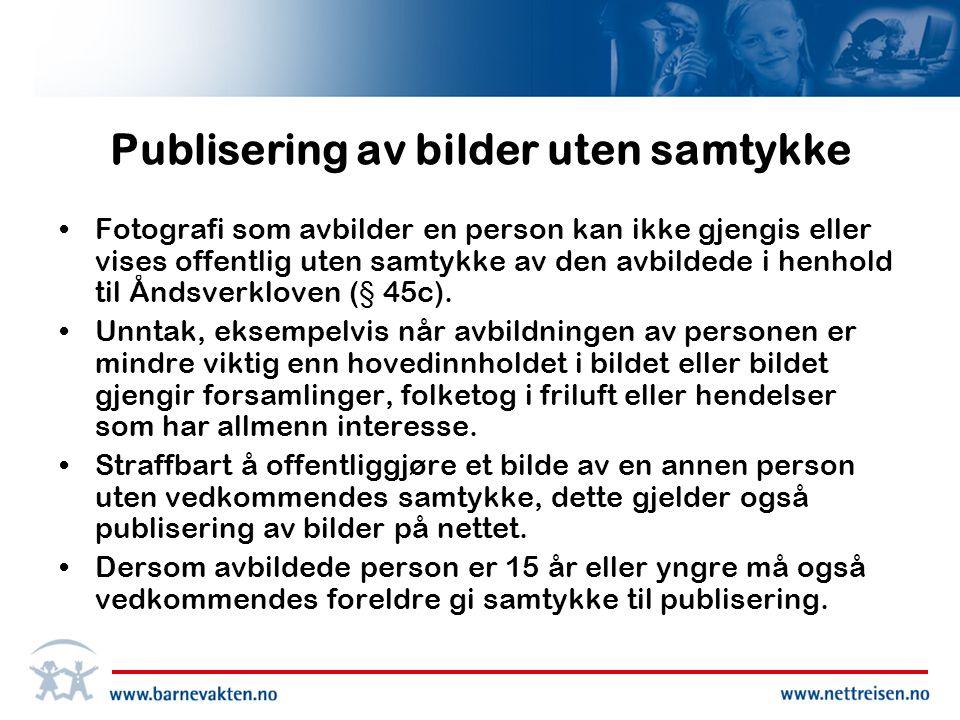 Publisering av bilder uten samtykke