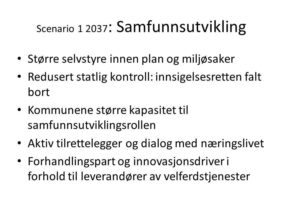 Scenario 1 2037: Samfunnsutvikling