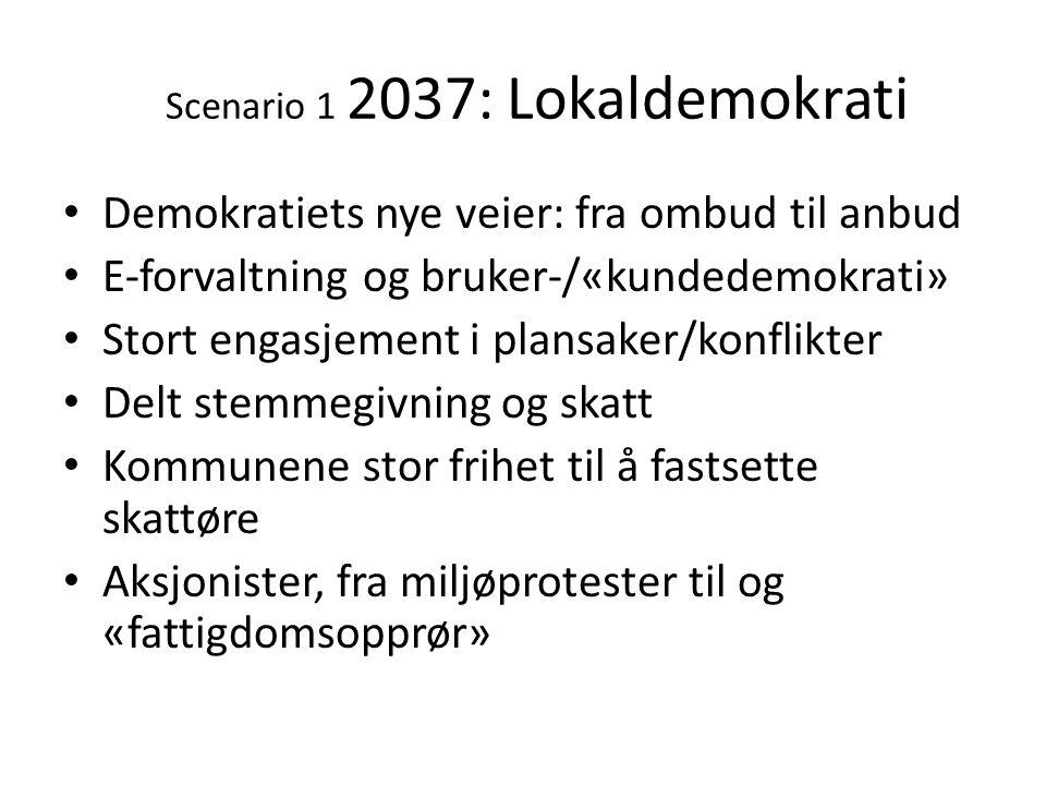 Scenario 1 2037: Lokaldemokrati