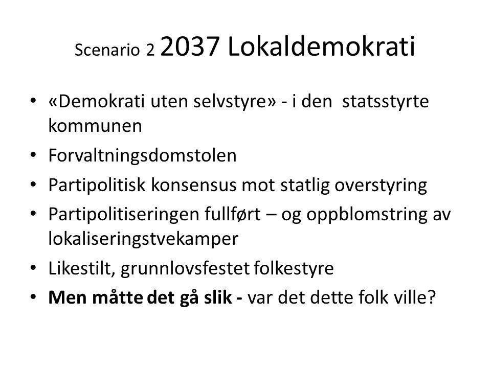 Scenario 2 2037 Lokaldemokrati
