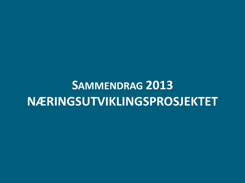 Sammendrag 2013 NÆRINGSUTVIKLINGSPROSJEKTET