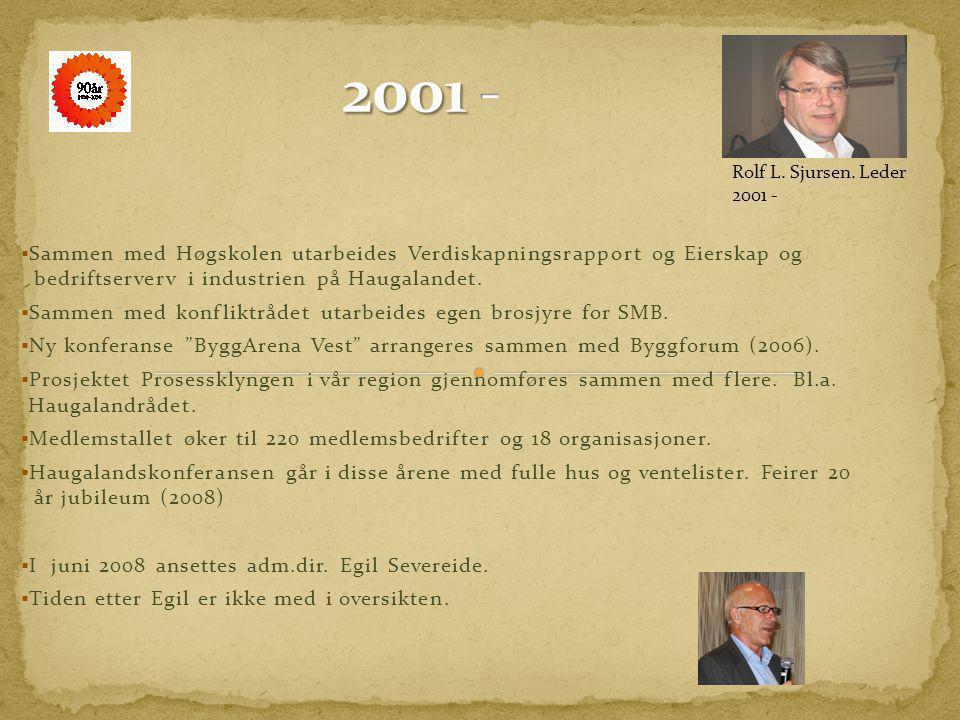 2001 - Rolf L. Sjursen. Leder 2001 -