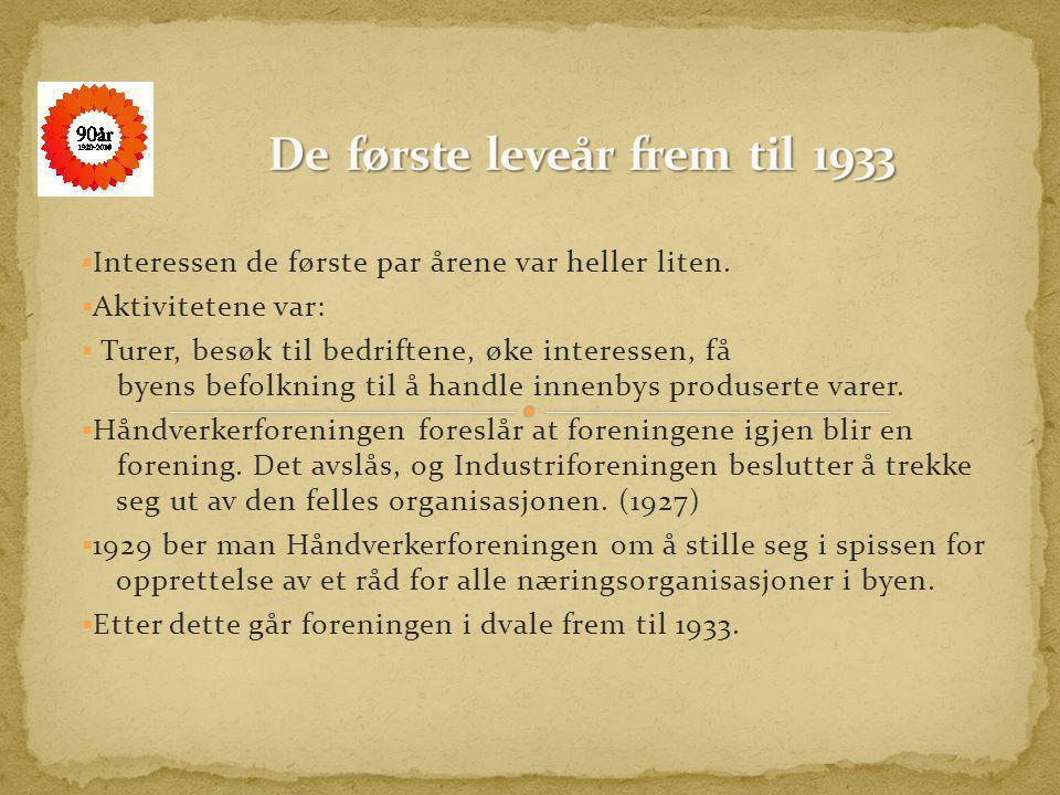 De første leveår frem til 1933