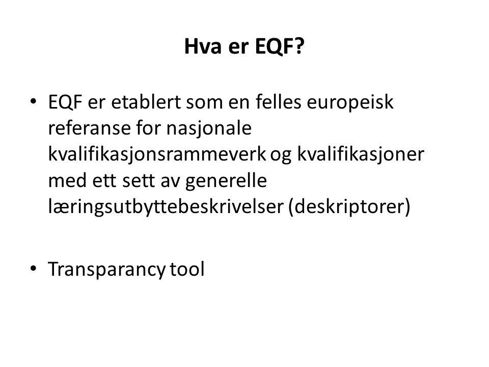 Hva er EQF