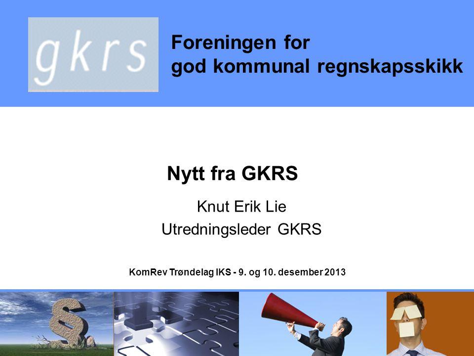 Knut Erik Lie Utredningsleder GKRS