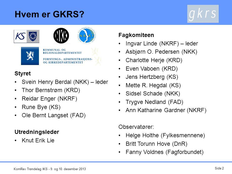 Hvem er GKRS Fagkomiteen Ingvar Linde (NKRF) – leder