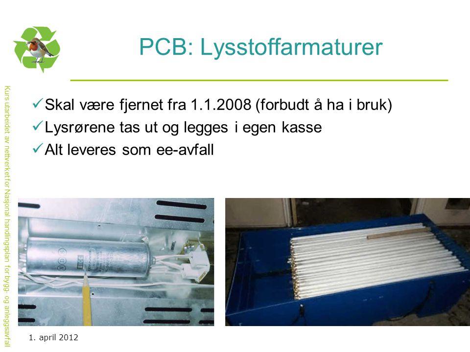 PCB: Lysstoffarmaturer
