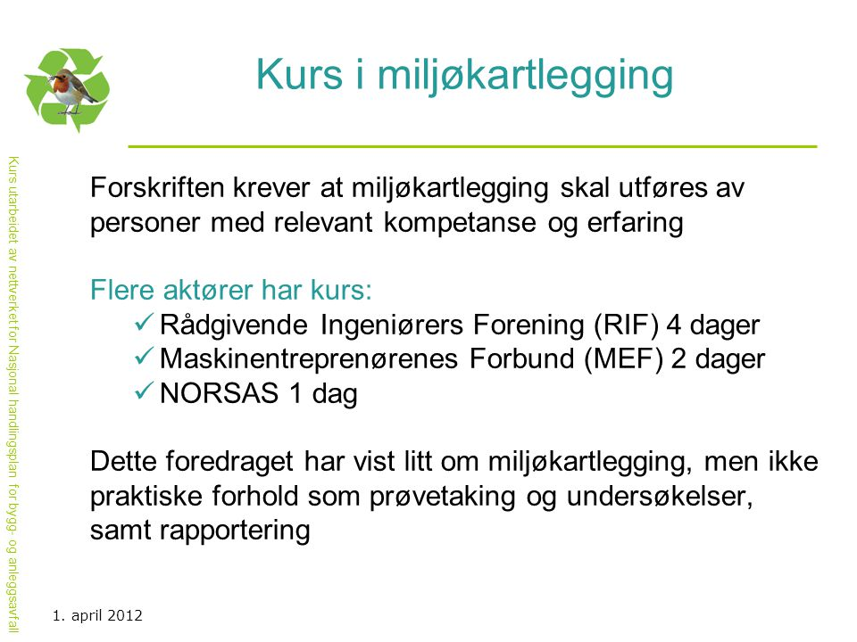 Kurs i miljøkartlegging