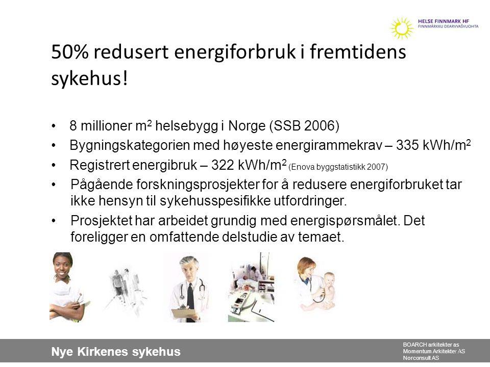 50% redusert energiforbruk i fremtidens sykehus!