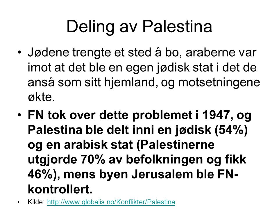 Deling av Palestina