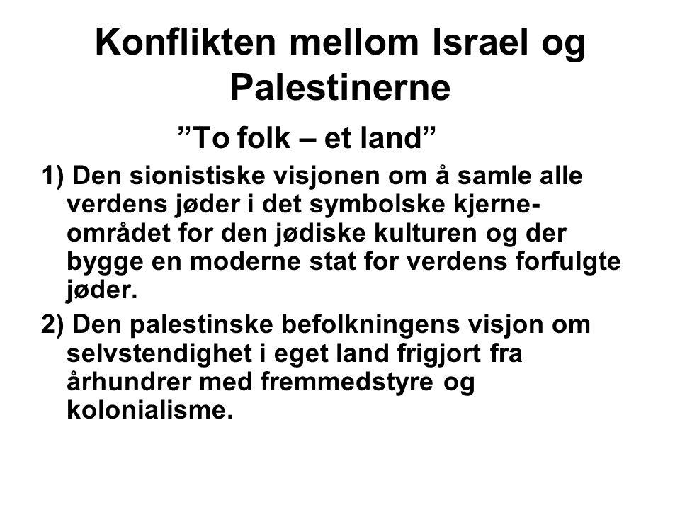 Konflikten mellom Israel og Palestinerne