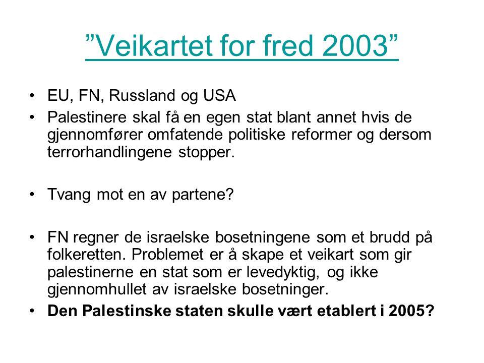 Veikartet for fred 2003 EU, FN, Russland og USA
