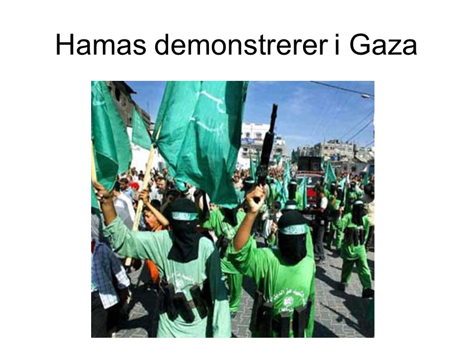 Hamas demonstrerer i Gaza