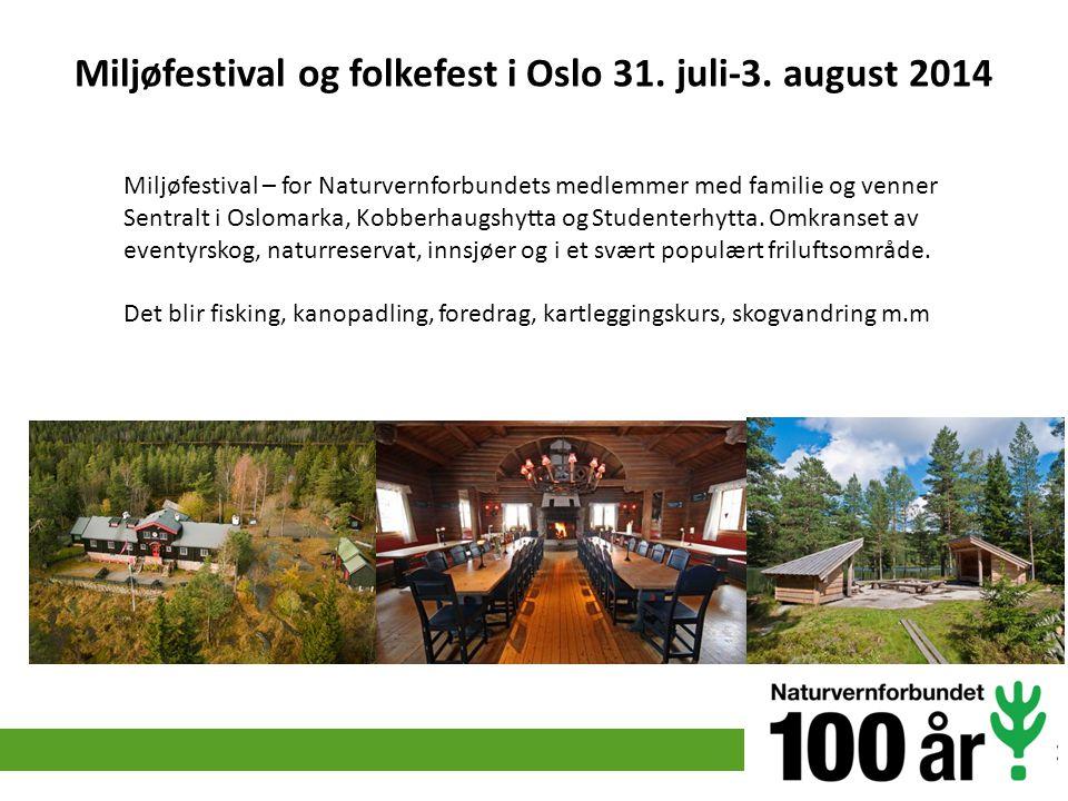 Miljøfestival og folkefest i Oslo 31. juli-3. august 2014
