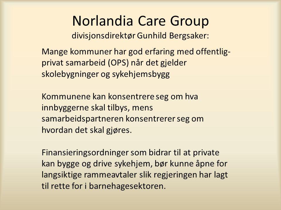 Norlandia Care Group divisjonsdirektør Gunhild Bergsaker:
