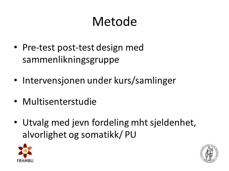 Metode Pre-test post-test design med sammenlikningsgruppe