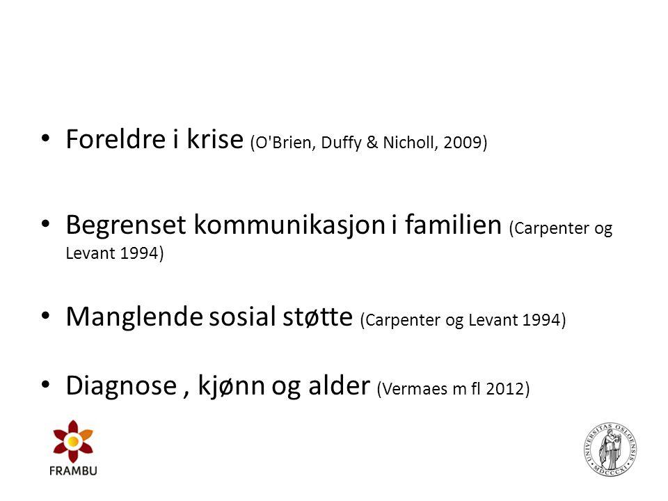 Foreldre i krise (O Brien, Duffy & Nicholl, 2009)