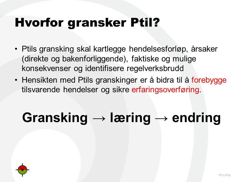 Gransking → læring → endring